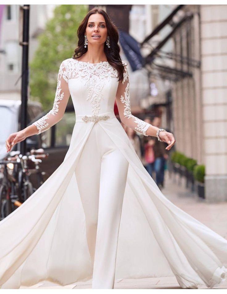 40+ Jumpsuit Wedding Dresses Ideas 43 – Fiveno