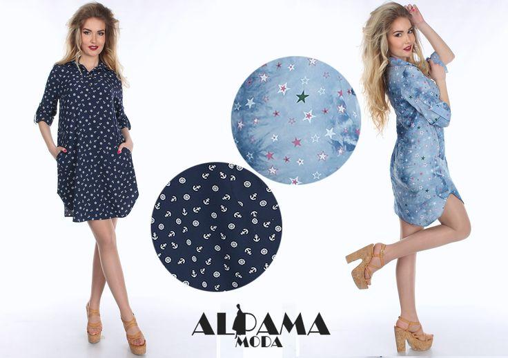 Легкий вариант платья, а точнее платья-рубашки, не сходит с полок магазинов уже который сезон. Данная модель отлично сочетается как с босоножками на платформе, так и с низким ходом, а также может выгодно смотреться с кедами, слипами или лоферами. Городской стиль, отдых на пляже – ко всем этим вариациям платье-рубашка подходит беспроигрышно. Модель: Платье  SO-14100 Цена: 350 грн Сайт: http://alpama.net ✉Заказ: https://vk.com/moya_stranica_v #Alpama #новаяколлекция #newcollection #платье #акц