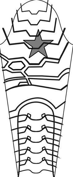 winter soldier arm patern - Google-haku