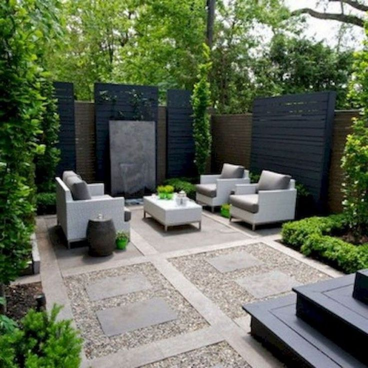 32 Beautiful Modern Garden Design Ideas You Should Copy Modern Gardens Have A Ve In 2020 Modern Backyard Landscaping Backyard Seating Area Small Backyard Landscaping
