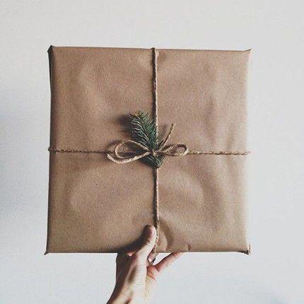 Un emballage cadeau naturel