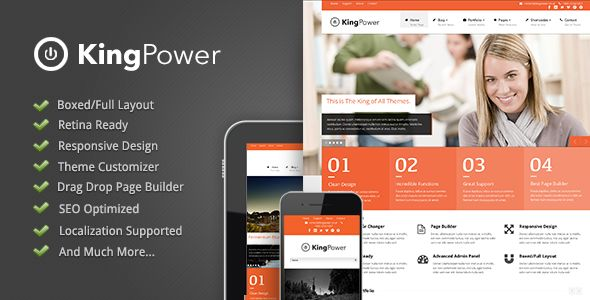 King Power - Retina Ready Multi-Purpose Theme - ThemeForest Item for Sale