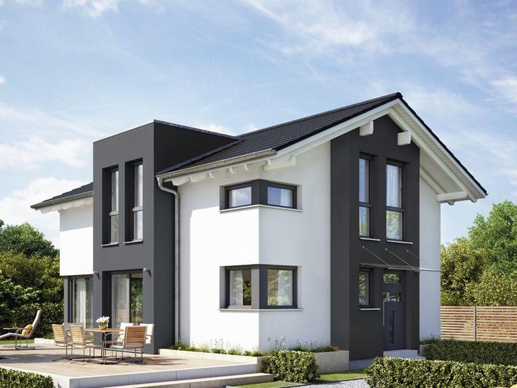 Fassade modern einfamilienhaus  8 besten Fassade Bilder auf Pinterest | Fassadenfarbe, Anbau haus ...