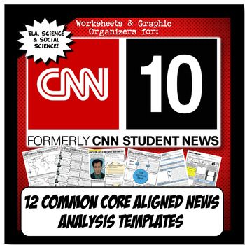 My students are hooked on CNN 10, formerly CNN Student News! It is a great, free online resource that is perfect to get students thinking about current events with a Common Core lens. This activity set has TEN templates to choose from and is aligned with Common Core Literacy and Writing standards for ELA, history and science (NGSS).There are varying templates for teachers to implement depending on style and class ability level.