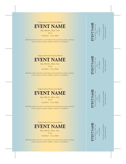 Free Printable Raffle Ticket Template Download 38 Best Raffle Tickets Design Images On Pinterest  Ticket Design .