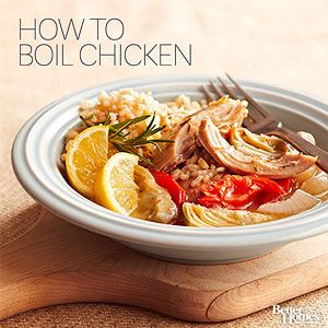Make versatile boiled chicken breasts your go-to ingredient to get dinner on the table fast. For inspiration, try these meal ideas that use boiled chicken.