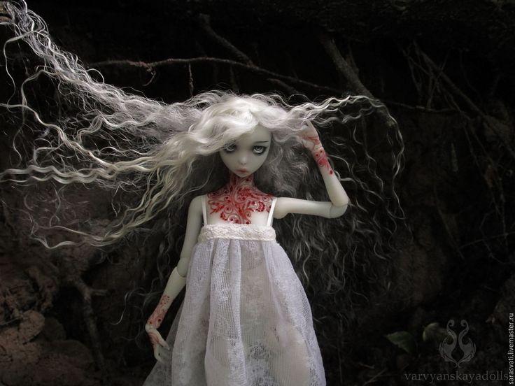 Купить Шарнирная кукла, БЖД, Аннабель Ли - васильковый, бжд, полиуретановая кукла