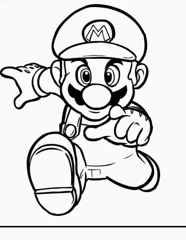Coloring Mario Black And White Super Mario Coloring Pages Mario Coloring Pages Cartoon Coloring Pages