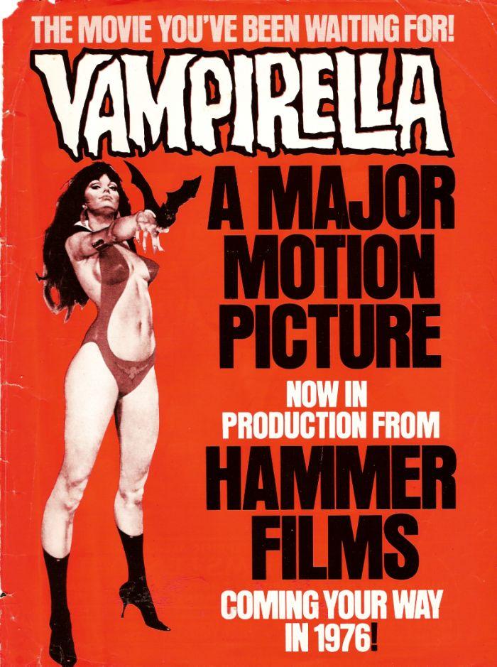 """Movie poster for Hammer Horror, """"Vampirella"""""""