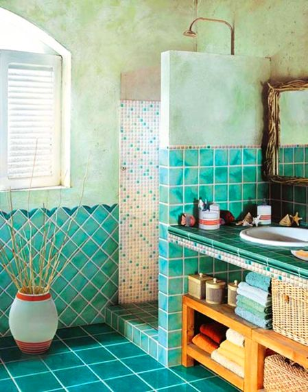 Mosaic Summer Bathroom