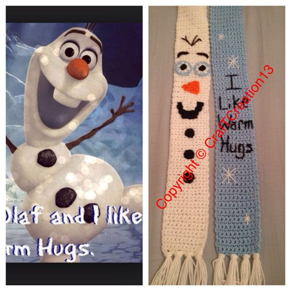 Frozen's Olaf and Quote inspired Scarf