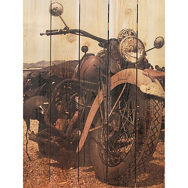 Rev up your home indoors or out with the classic ride cedar wall art this wall decor is made from real cedar boards