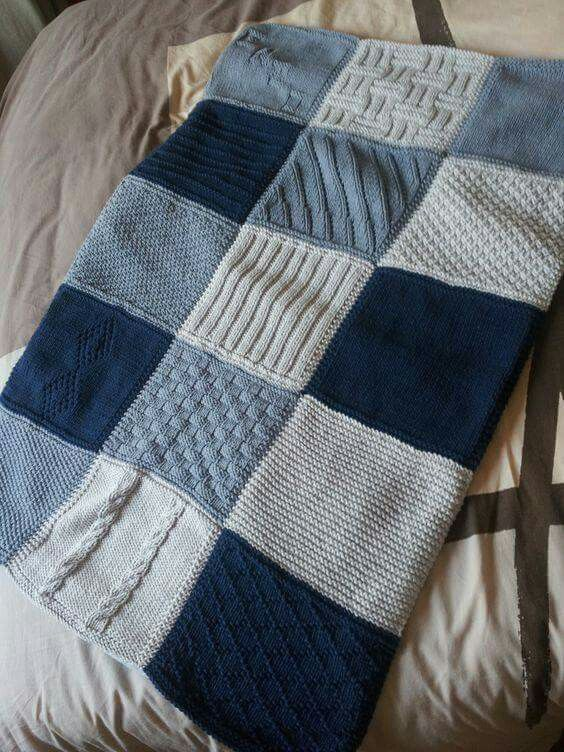 Knitted squares booster