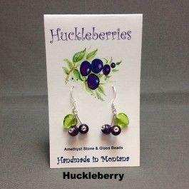 Huckleberry Earrings Made in Montana