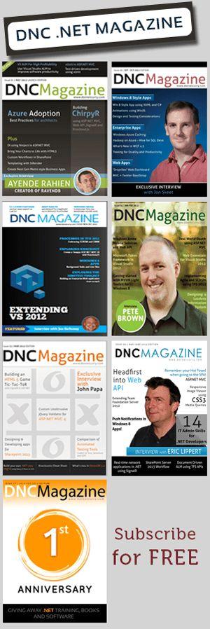 Free DNC .NET Magazine
