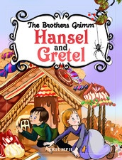 """Hansel and Gretel"" is a well-known fairy tale of German origin, recorded by the Brothers Grimm.  In this favorite Grimm Brothers tale, an evil stepmother sends Hansel and Gretel into the woods, but birds eat the crumb trail they drop along the trail to find their way back. Lost and hungry, they find a tempting house made of gingerbread...but can they trust the old woman inside?"