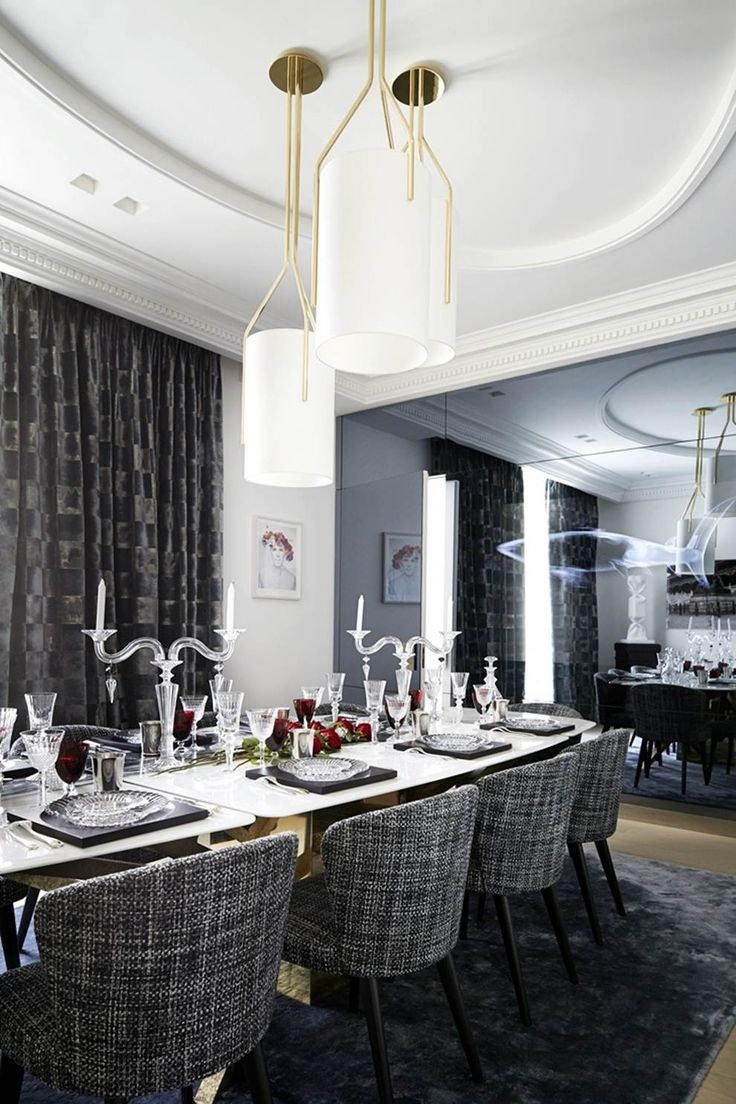 eh!DÉCOR - Apartamento clássico e elegante por Stéphanie Couta | Sala de jantar