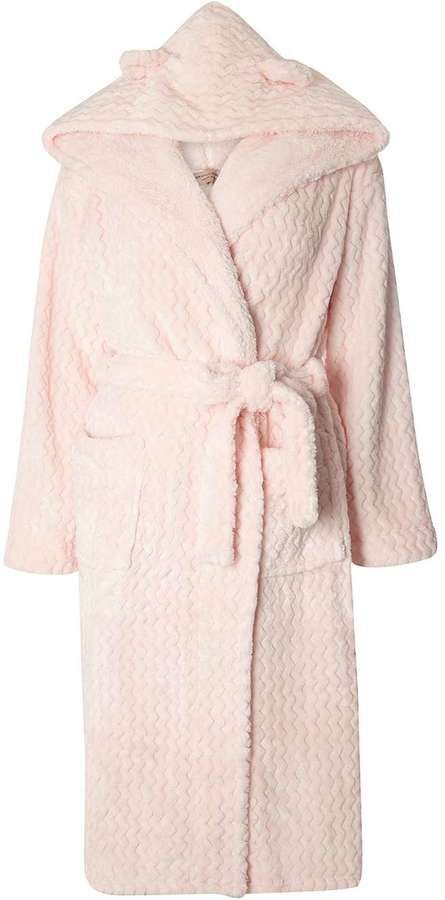 Pink Hood Dressing Gown With Ears