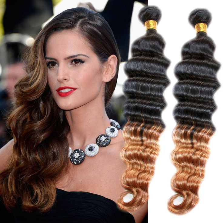 1234 best high quality real human hair extension images on stylish new ombre deep wave real human hair extension 50gbundle remy hair wefts pmusecretfo Gallery