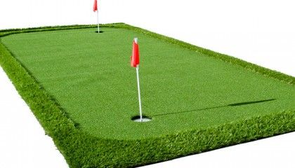 With this portable putting green you can practice putting skills at home or office.