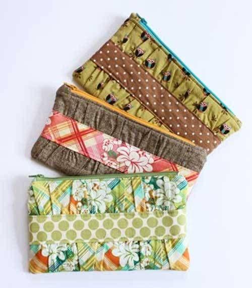 10 Free Zipper Pouch Patterns | Linda Matthews: Textile Art & Design