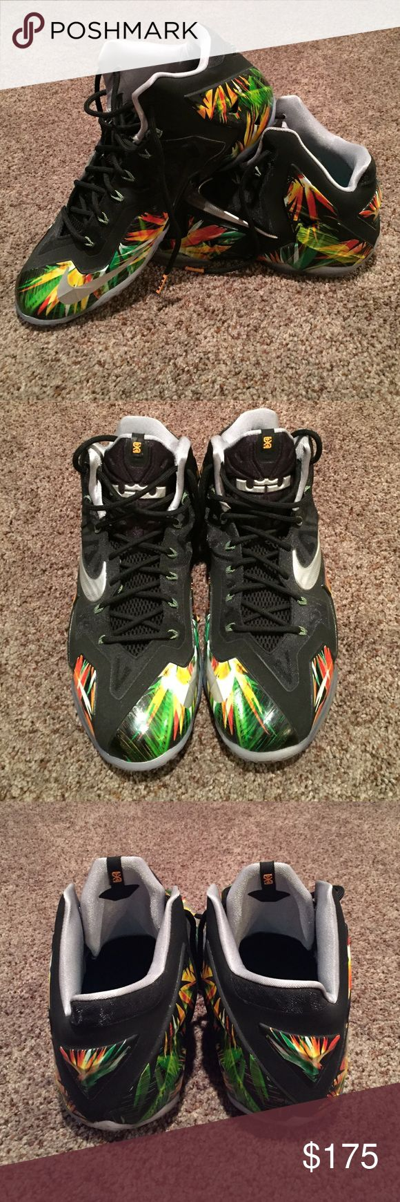 Nike LeBron 11 Floral Shoe Size 13 Nike LeBron 11 Floral Shoe Size 13. Worn One Time. Excellent Condition. Nike Shoes Sneakers