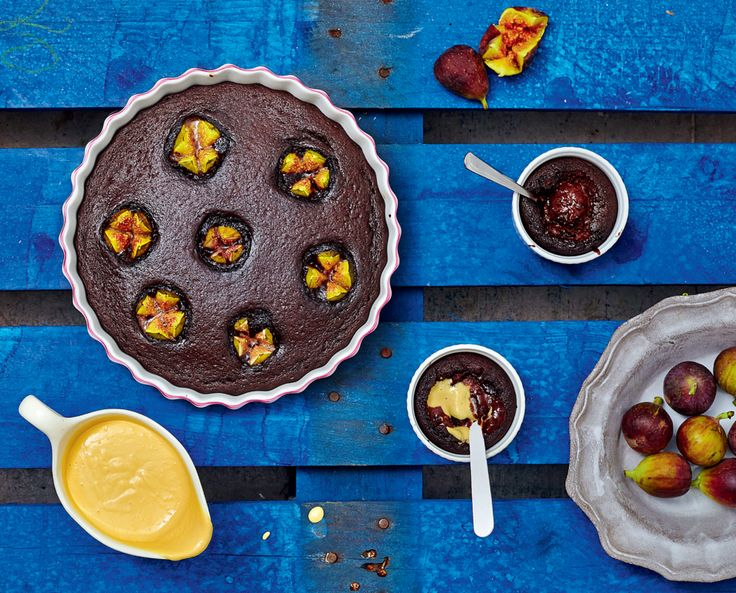 Chocolate Molten Pots and Chocolate Fig Pudding