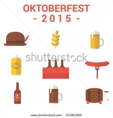 October Fest Icons - stock vector
