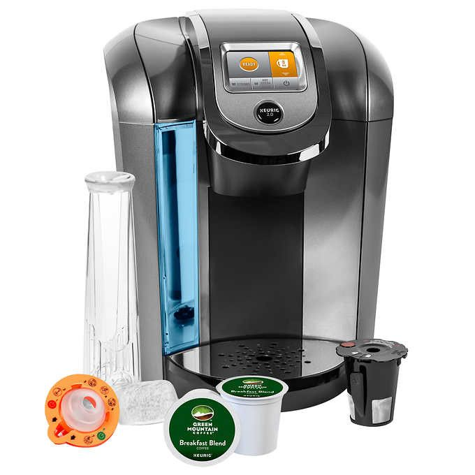 Keurig K525C Single Serve Coffee Maker, 12 K-Cup Pods and My K-Cup 2.0 Reusable Coffee Filter