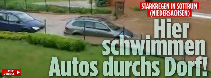 Starkregen in Sottrum (Niedersachen)