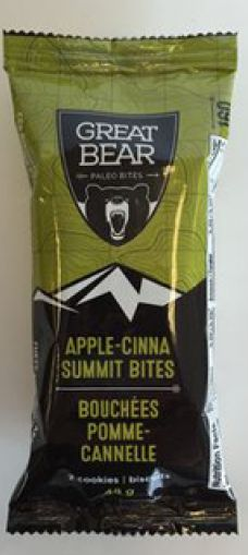 A BC Brand for the Grizzly Within! Gluten-Free! Nut-Free! Egg-Free! Soy-Free! Vegan! Paleo! Organic! Non-GMO! SEE: http://greatbearbites.com/