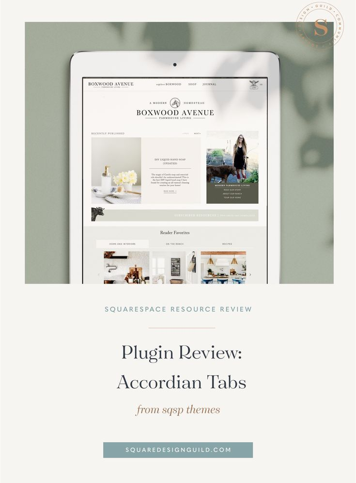 Squarespace Resource Review Sqspthemes Accordion Tabs Wordpress Template