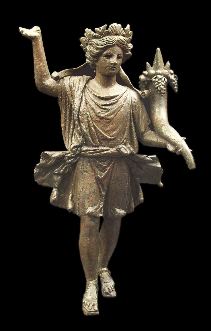 Lar holding a cornucopia from Axatiana (now Lora del Rio) in Roman Spain, early 1st century AD (National Archaeological Museum of Spain)
