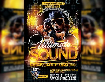 """Check out new work on my @Behance portfolio: """"Ultimate Sound"""" http://be.net/gallery/34644117/Ultimate-Sound"""