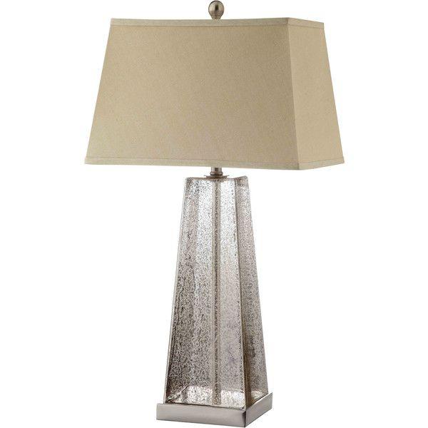 Armley Glass 1-light Steel Table Lamp