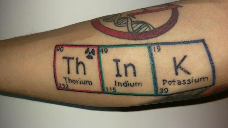 Atheist Tattoo, Periodic Table of Elements, Thorium, Indium, Potassium, Big Bear Tattoo