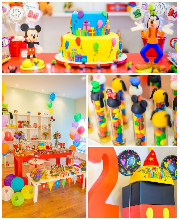 Mickey Mouse and Friends Birthday Party with Lots of Really Cute Ideas via Kara's Party Ideas | Cake, cupcakes, favors, games, printables, and more! KarasPartyIdeas.com