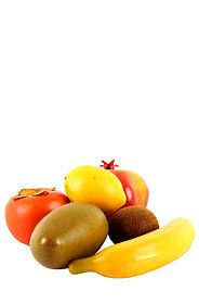 6 ARTIFICIAL TROPICAL FRUITS