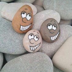 lustige gesichter steine bemalen leicht gemacht