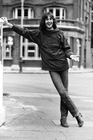 Eric Clapton poses for a portrait in July 1969 outside Olympic Studios during recording session with Blind Faith in London, Great Britain.