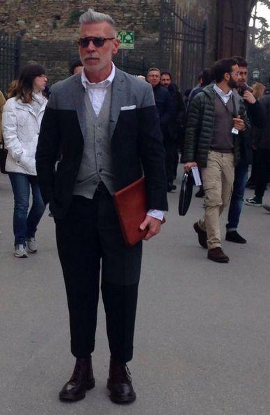sartorialjohnnyboy:  Mr Nick Wooster at Pitti Uomo 2014.