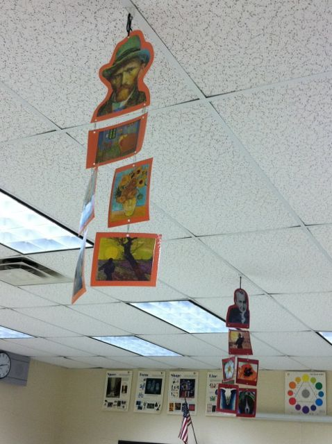 Artist display idea - Spanish artists and their work, with descriptions of the paintings on the back!  Great project idea, or mini project for a group on a block day.