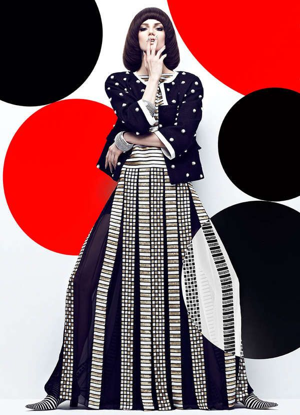 Graphic Patterned Fashion - The Fashion Magazine High Contrast Editorial Stars Samantha Rayner (GALLERY)