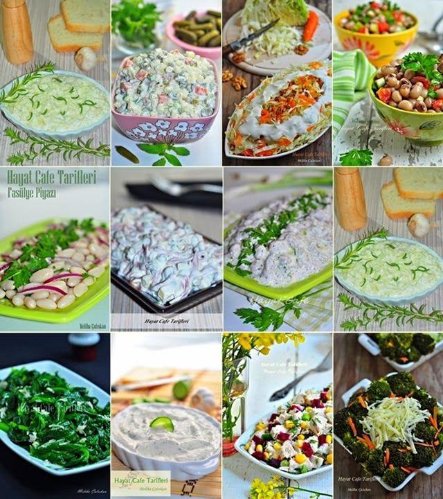 Salata ve Meze Tarifleri - Hayat Cafe Kolay Yemek Tarifleri