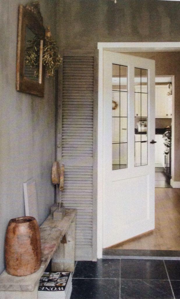 17 beste afbeeldingen over landelijke entree op pinterest grijze gang voordeuren en entree - Kleur schilderij gang ...
