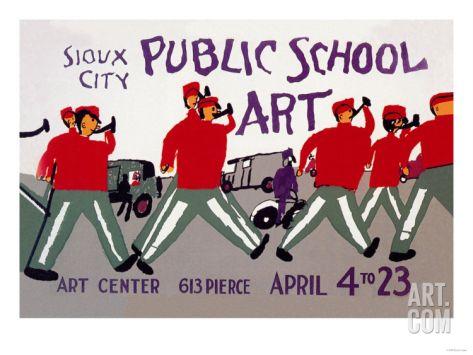 Sioux City Public School Art Art Print at Art.com