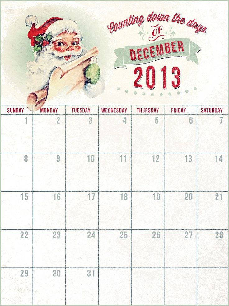 222 best December Daily Albums images on Pinterest December - daily calendar printable