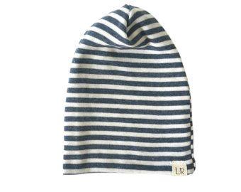 slouchy baby beanie gray stripe beanie baby boy by ShopLuluandRoo