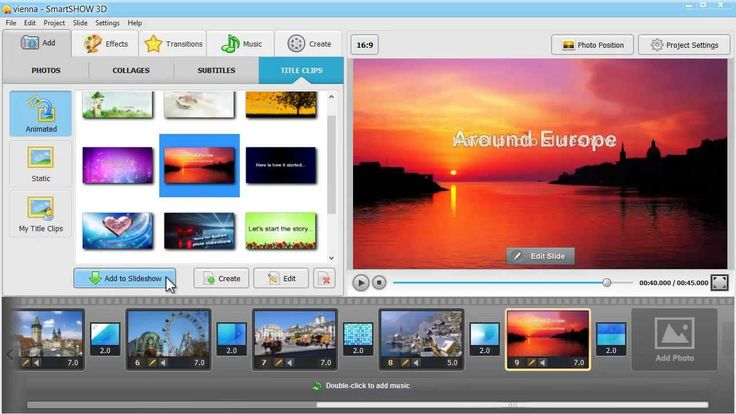Learn how to make a slideshow with animated subtitles and title clips with this great software http://smartshow-software.com/ Make your slideshow project shine out! #DIY #smartshow3d #slideshow
