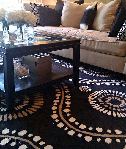 Tan Sofa With Navy Blue Like The Rug Dream House